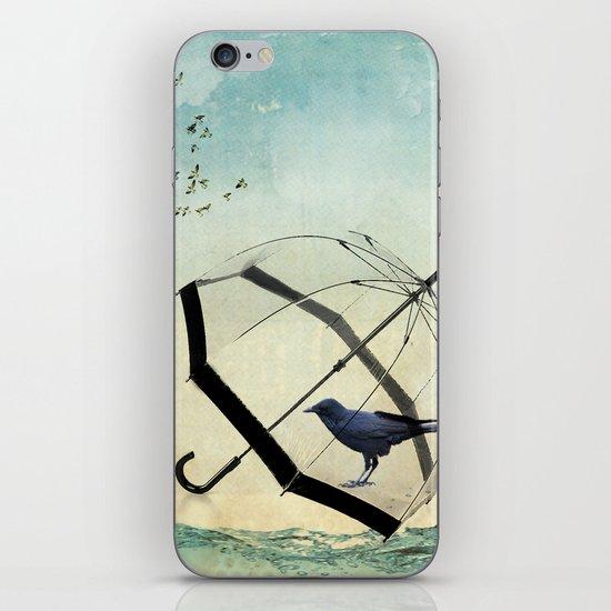 Black rain iPhone & iPod Skin