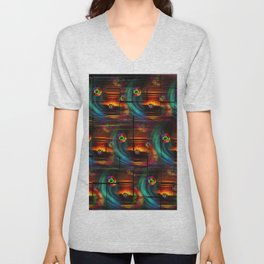 Abstract in Perfection -Good Luck Unisex V-Neck