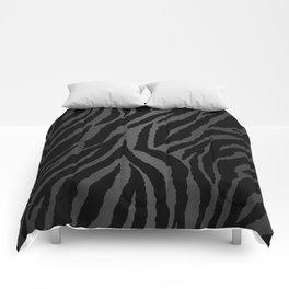 Zebra Stripes & Dark Metallic Comforters