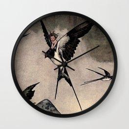 """Thumbelina"" Fairy Tale by W Heath Robinson Wall Clock"