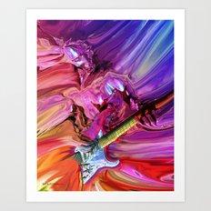 Guitar Theory 4 Art Print