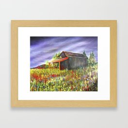 peace and poppies Framed Art Print