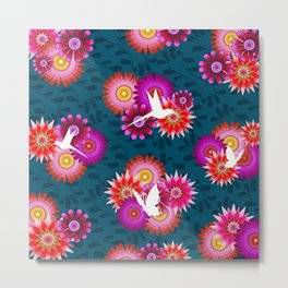 Tropical Flowers 1b Metal Print