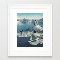 nudes Framed Art Prints featuring Arctic Nudes by KUBISM