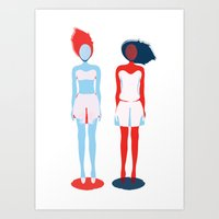 girls Art Prints featuring Girls by Mila Spasova