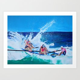 Surf Boat Rowers Art Print