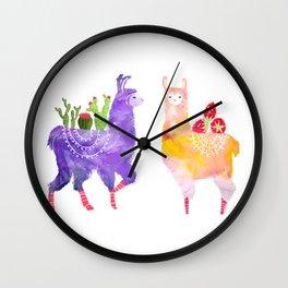 Llama Party Wall Clock