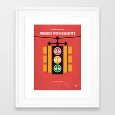 No629 My Friends with benefits minimal movie poster Framed Art Print
