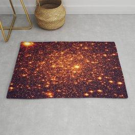 Copper Bronze Glitter Stars Rug