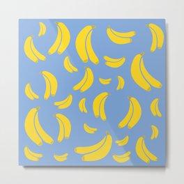 Bananas (Blue) Metal Print