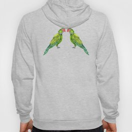 Perched Parrot – Green Palette Hoody