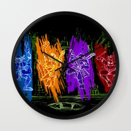 TMNT Rock Wall Clock