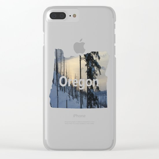 Deeper Drifts Clear iPhone Case