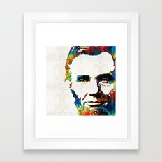 Abraham Lincoln Art - Colorful Abe - By Sharon Cummings Framed Art Print