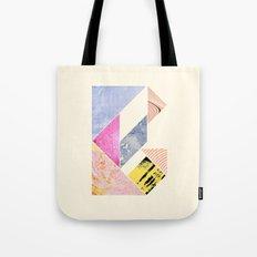Collaged Tangram Alphabet - B Tote Bag