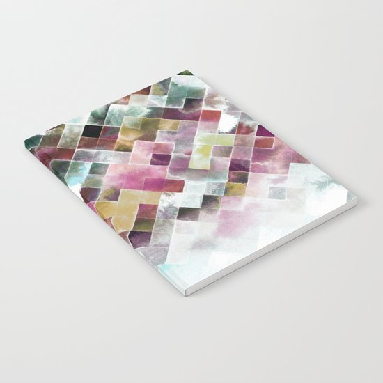 Moody watercolor patchwork  Notebook
