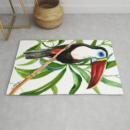 Toucan in Jungle, White-Throated Toucan Rug