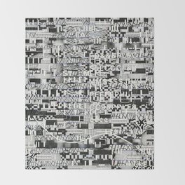 Confused Images Behind the Interface (P/D3 Glitch Collage Studies) Throw Blanket
