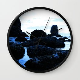 Scattered Blue Rocks  Wall Clock