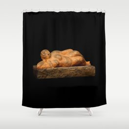 Earth Woman (Sculpture by Eva Hoedeman) Shower Curtain