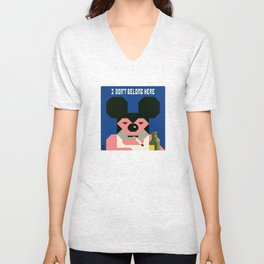 Mickey and his midlife. Unisex V-Neck
