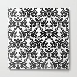 primrose bw pattern Metal Print