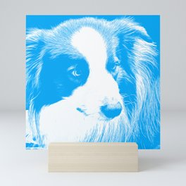border collie dog 4 vawb Mini Art Print