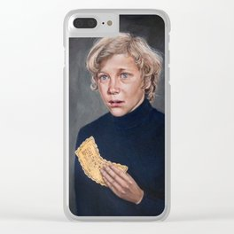 Charlie Bucket - Golden Ticket Willy Wonka Painting Clear iPhone Case