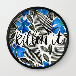 Killin' It – Tropical Blue Wall Clock