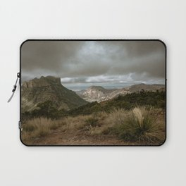 Big Bend Cloudy Mountaintop View - Lost Mine Trail - Landscape Photography Laptop Sleeve