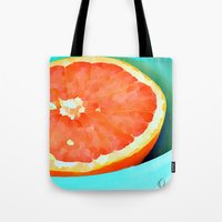aelwen Tote Bags featuring Grapefast by Xchange Art Studio