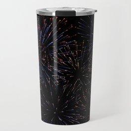 New Years Firework Texture Travel Mug