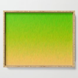 Green Orange Yellow Ombre Flame Serving Tray