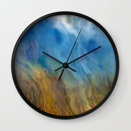 Raining Rivers of Sky: Abstract Painting Wall Clock