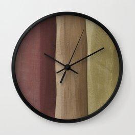Brown Gradient on Wood Wall Clock