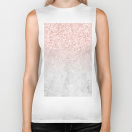 She Sparkles Rose Gold Pink Concrete Luxe Biker Tank