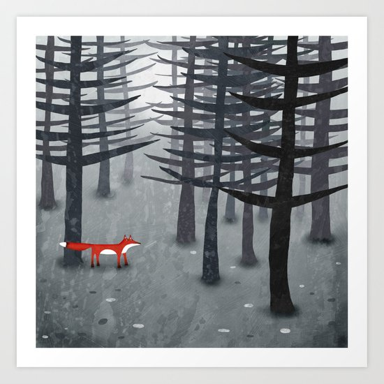 The Fox and the Forest Art Print