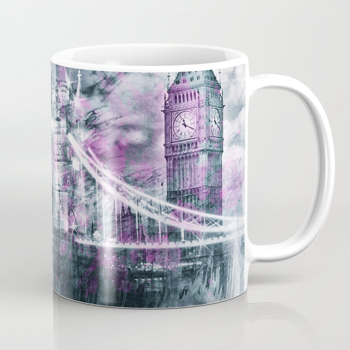 Modern-Art LONDON Tower Bridge & Big Ben Composing Coffee Mug