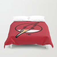 running Duvet Covers featuring Running Low by Steven Toang