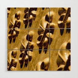 Parisian Gold Fluer De Lis Embossed Design Wood Wall Art