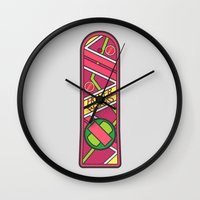 mcfly Wall Clocks featuring McFly by sonsofwolves