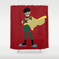 batgirl Shower Curtains featuring Robin by karla estrada