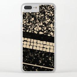 Terrazzo Pattern Black & Gold Sepia #1 #texture #decor #art #society6 Clear iPhone Case