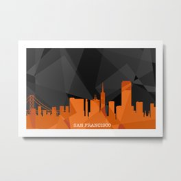 Frisco Nights Metal Print