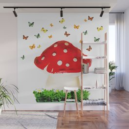 the magical toad stool Wall Mural