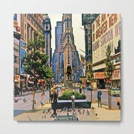Vintage New York City Art - Society6 Prime Art - NYC - Times Square - Downtown - Midtown 2k Metal Print