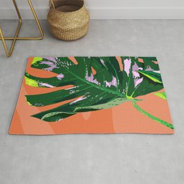 Daytime Monsters - Tropical Monstera Deliciosa Illustration Rug