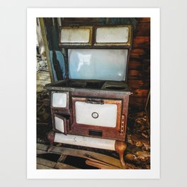 Windsor Porcelain Stove in a Ghost Town Art Print