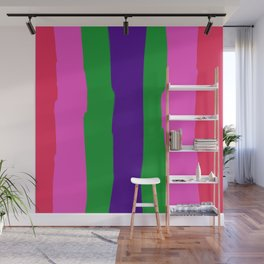 Happy Stripes Wall Mural