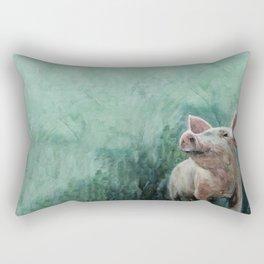 One Bad Pig Rectangular Pillow